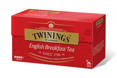"Fekete tea, 25x2 g, TWININGS ""English Breakfast"""